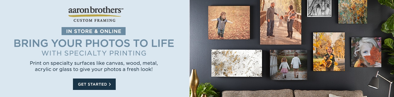 Online only: Turn Your Pics & Artwork into Wall Décor. Metal. Acrylic. Wood. Canvas. Glass. Get started